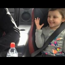 VIDEO: Little girl's priceless reaction to her father speeding