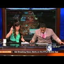 Earthquake in LA yesterday - see the reactions!