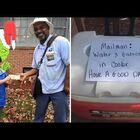 8 Year Old Makes The Mailman's Day