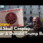 Red Skull / Hydra Cosplay At Trump Rally!