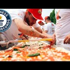 WATCH: It's The World's Largest Pizza!