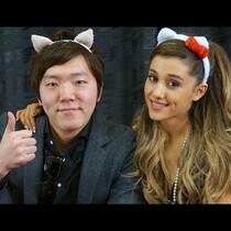 Ariana Grande Sounds AMAZING Singing With Japanese Beat boxer!!