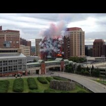 City Turns Demolition into Daytime Fireworks Show