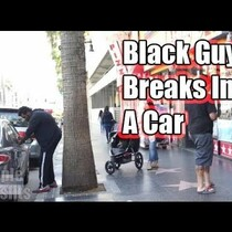 Controversial Experiment: Difference Between Black & White Guy Breaking Into Car