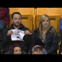 Guy Pulls Out Sign on Gophers Game Kiss Cam