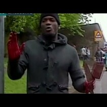 Video of the Attacker in London Killing from yesterday