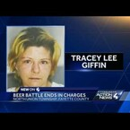 Woman charged with stabbing husband for drinking her beer!