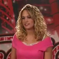 What a difference!  Remember Carrie Underwood's American Idol Audition?