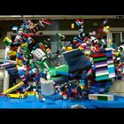 Slo-Mo Lego Plane Crash Is The Balls