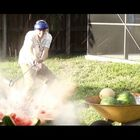 Backyard Scientist Blows Up Watermelons And Coconuts (Video)