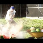 Backyard Scientist Blows Up Watermelons And Coconuts