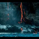 Spectacular video shows woman swim up to Hawaii's lava 'Waterfall' - WATCH