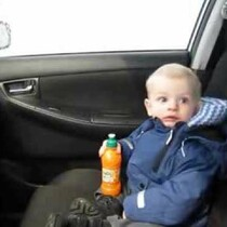 VIDEO: Baby's first car wash