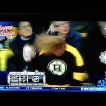 Headbanging Bruins chick