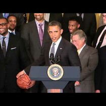 Obama Recibe al Miami Heat en la Casa Blanca