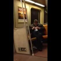 Drunk guy singing 'Get Low' on DC Metro