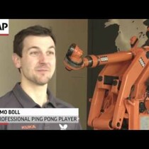 WATCH: Robot takes on top ping pong player.