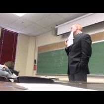Student pulls EPIC prank on college professor!