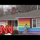 Man Fed Up with Bullies Paints His House in Rainbow Colors