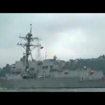 U.S. Warship crossing into Black Sea