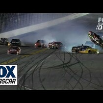 Clint Bowyer's WILD RIDE UP AND OVER AT DAYTONA