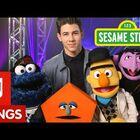 Nick Jones lust after SHAPES on Sesame Street!