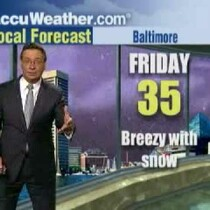 Weatherman really into snow report (video)