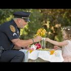 Police Officer Has Tea Party With The Girl He Saved