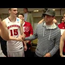 Video: Aaron Rodgers Celebrates with Wisconsin Badgers
