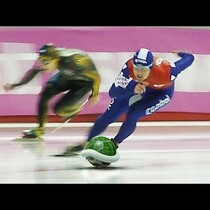 WATCH: Speed Skating Meets Mario Kart