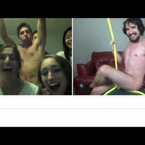 So Funny! Miley Cyrus Wrecking Ball with Chatroulette
