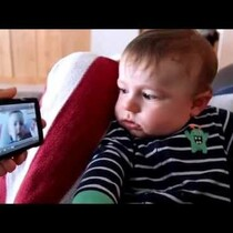EJ: Watch A Baby React To A Video Of Himself Crying.