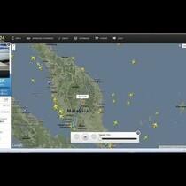 Malaysian Airlines Flight MH 370 on Flight Radar Playback.