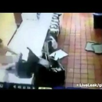 Woman Wearing Only a Thong (Good Parts Blurred) Trashes Florida Mickey D's