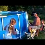 Crazy Grandpa Empties Pool The Quick Way