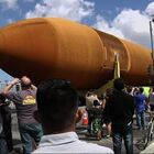 Shuttle Tank Makes Its Way To L.A. Museum.