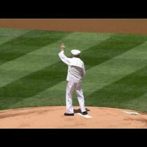 92-Year-Old WW2 Veteran Throws Out First Pitch