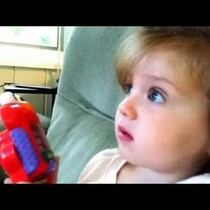 This little girl is amazed at a space shuttle taking off. Too cute!!