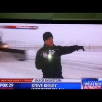 News Reporter Gets Plowed