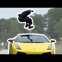 Guy Jumps Over A Lambo