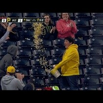 Video: Fan Catches Foul Ball with Popcorn Bucket!