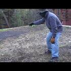 Redneck wrestles wild ruffle neck grouse