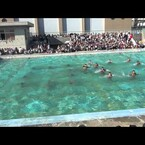 Japanese high school boy's water ballet club performs ''Let it go''