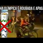 Olympic torch was stolen/extinguished in Brazil
