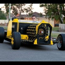 Life sized LEGGO car that runs on