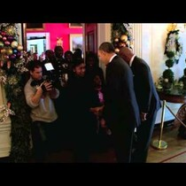 Steve Harvey & The President surprise white house tour