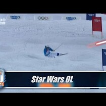 Olympic Men's Mogul crashes vs. Star Wars