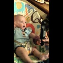 WATCH: Baby Goes Nuts Over TV Remote
