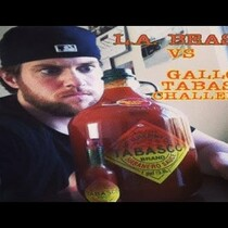 Guy tries to drink a gallon of hot sauce (DO NOT ATTEMPT THIS)