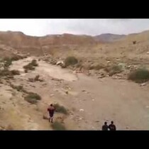 Watch a Flash Flood Turn A Dry River Bed Into A River Before Your Very Eyes!!